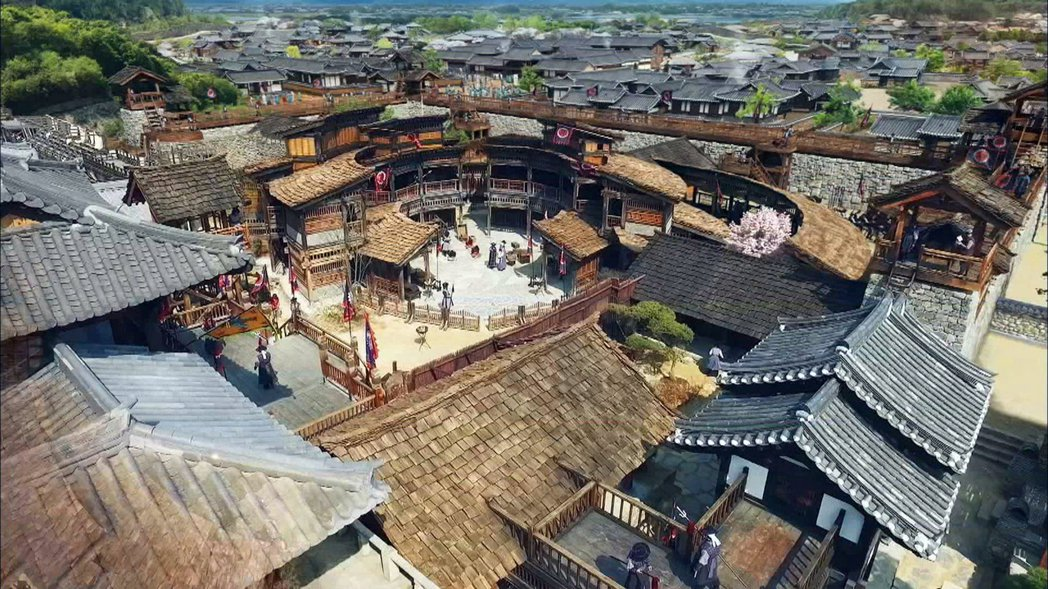 「御中花」劇組砸30億韓幣打造主場景典獄署,占地約3千坪。圖/東森提供