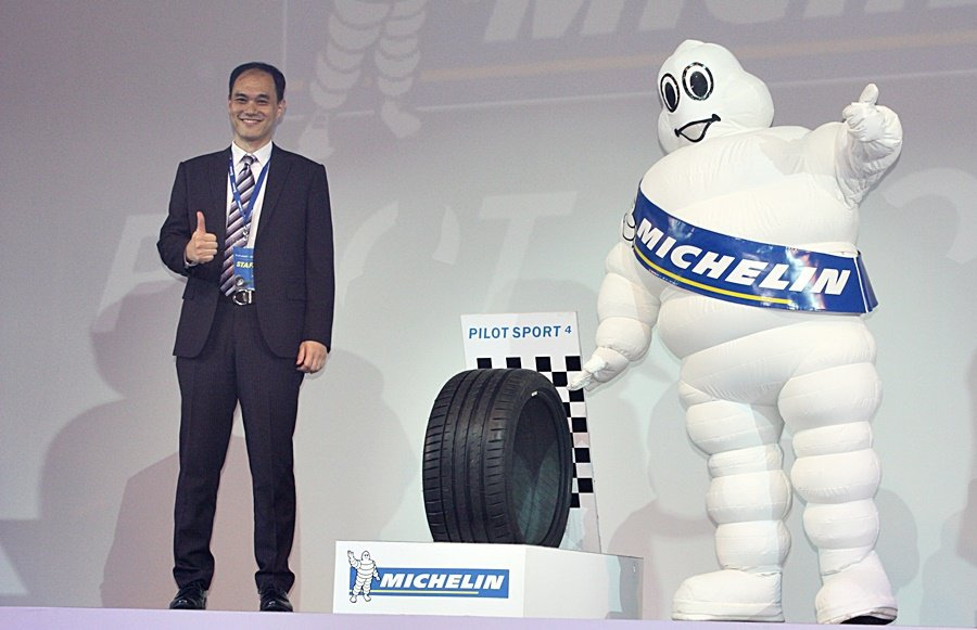 Pilot Sport 4高性能輪胎要搶攻國內高端性能胎市場。 記者林...
