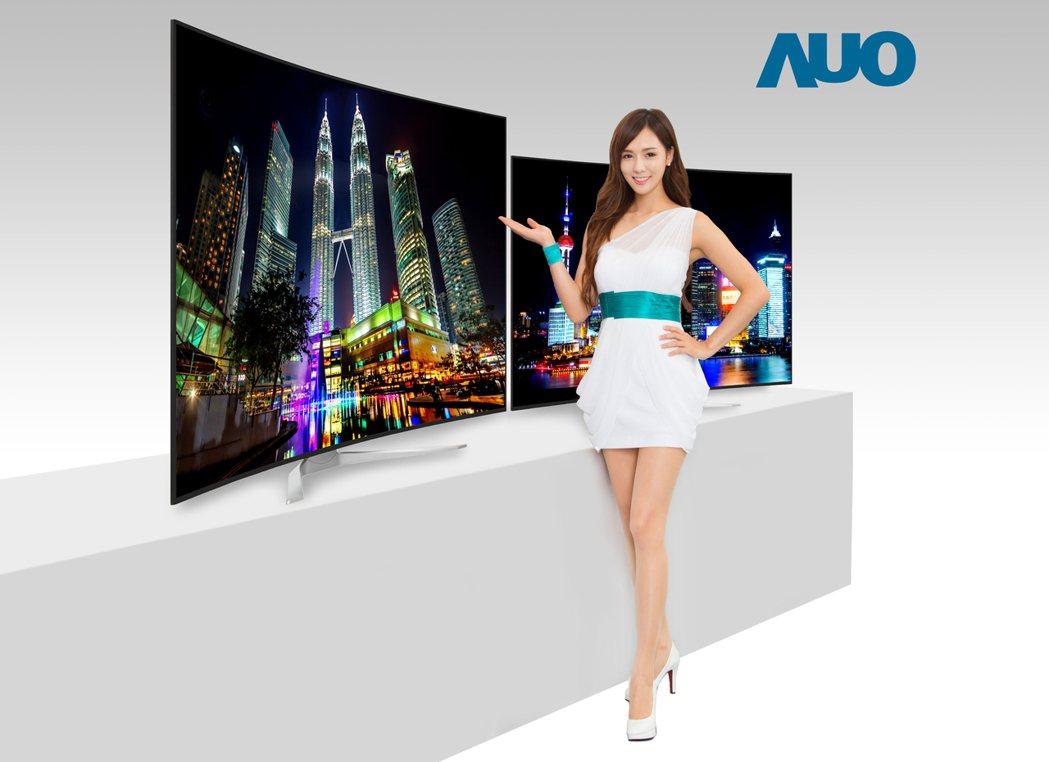 友達高階超薄大尺寸4K2K電視面板.友達/提供
