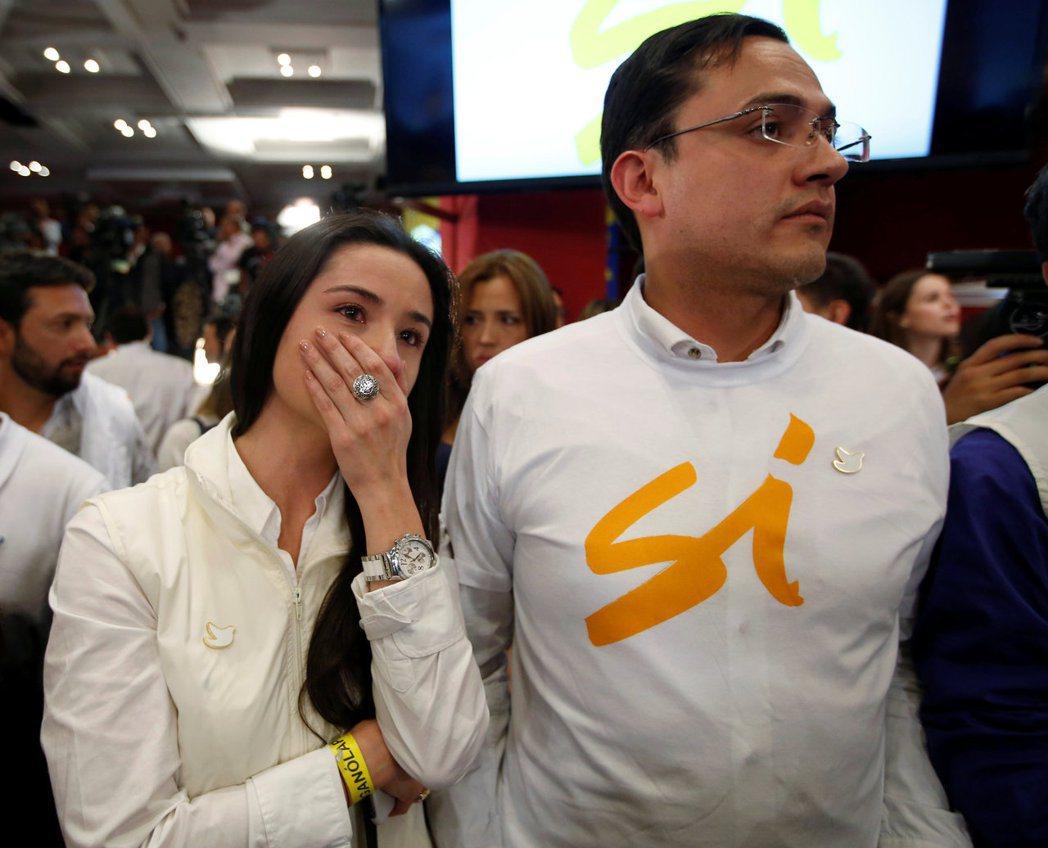 哥倫比亞和平公投未過關,選民難掩失望。(路透)