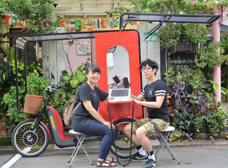 「太陽能行動咖啡車」將於10月中旬開始於台北、南投、台東、屏東及台南地區,由六個...