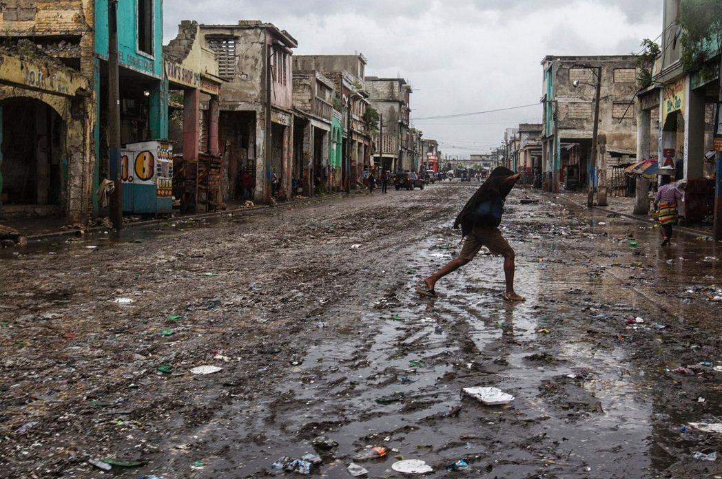 海地太子港的災情。 圖/法新社