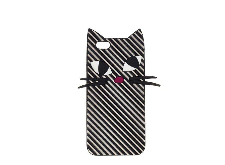 俏皮黑貓手機殼,2180元。圖/LULU GUINNESS提供