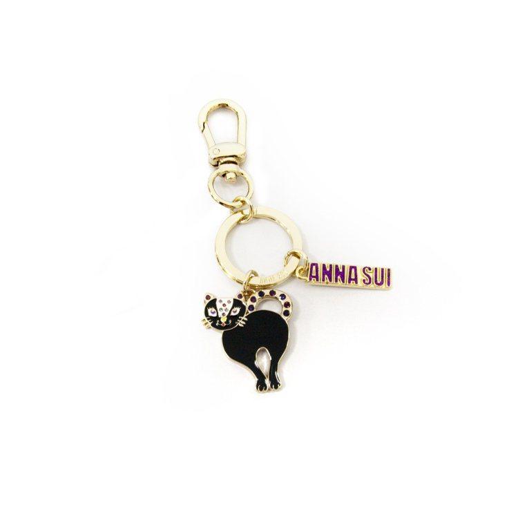 黑貓鑰匙圈,1780元。圖/ANNA SUI提供