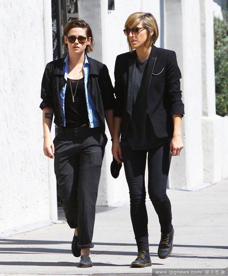 克莉絲汀史都華與女友 Alicia Cargile。圖/達志影像