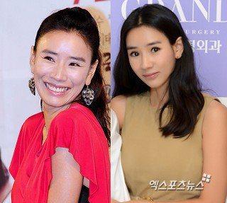 女星尹賢淑整形前(左)後差異頗大。圖/摘自日刊體育報