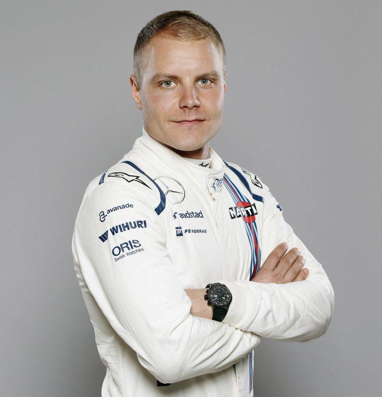 Williams F1車手Valtteri Bottas。 圖/Oris提供
