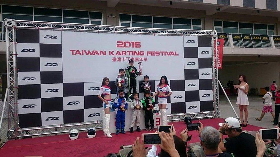 英國11歲的車手Alex Rose獲得兒童組Cadet冠軍。 麗寶樂園提供