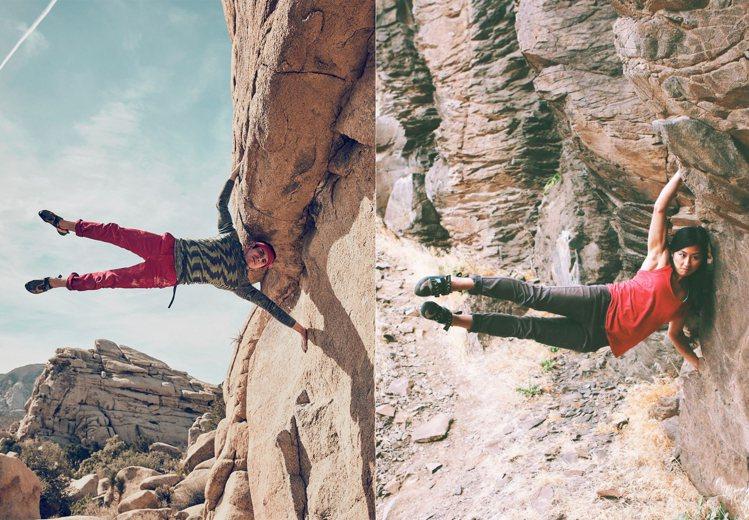 左圖為GQ拍攝的時尚大片,右圖為Outdoor Research所拍攝。圖/摘自...