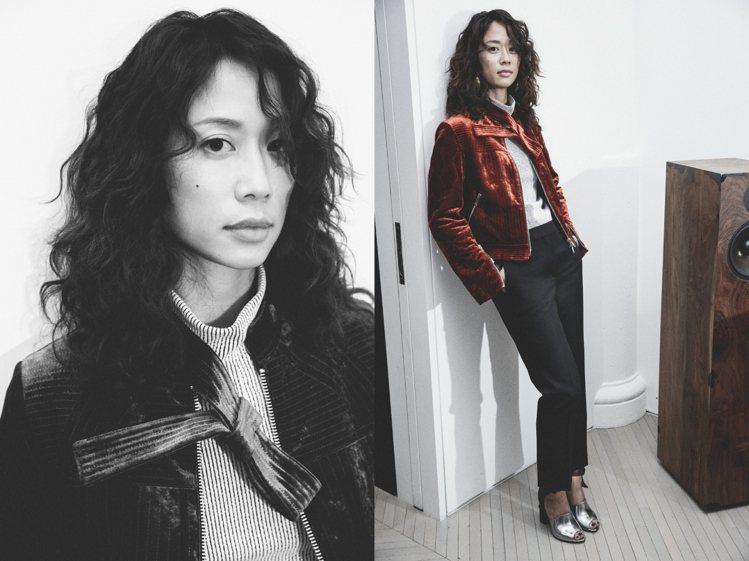 時尚專案創意總監Kim Bui Kollar的黑色喇叭褲,散發知性美。圖/3.1...