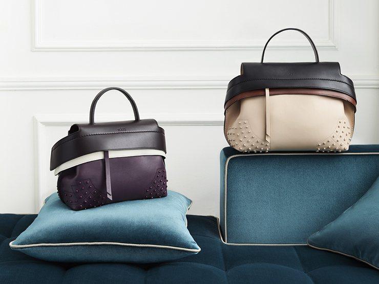 TODS 三色Wave Bag,售價66,500元(左)、72,800元(右)。...