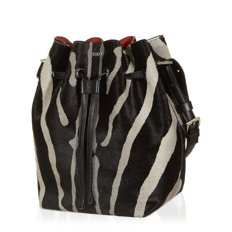 TODS斑馬紋Wave水桶包,售價84,900元。圖/TODS提供