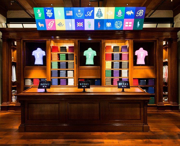 The Polo Custom Shop服務專區。圖/Polo Ralph La...