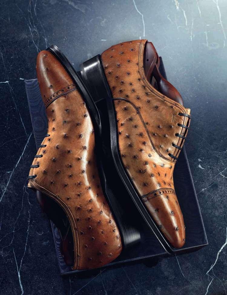 棗紅色鴕鳥皮尖頭牛津鞋,12萬9,000元。圖/Ferragamo提供