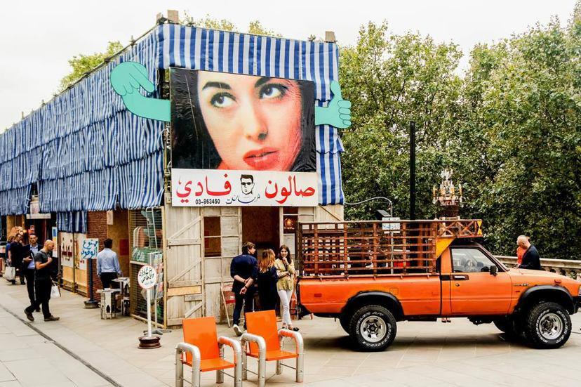 以貝魯特的市井生活展現日常烏托邦的黎巴嫩館,榮獲今年倫敦設計雙年展獎。 圖/Lo...