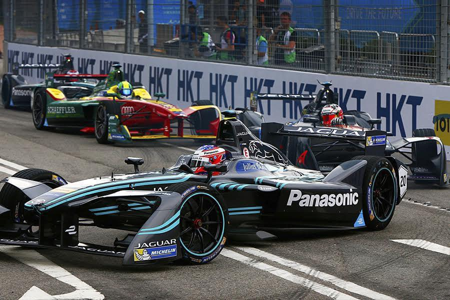 Panasonic Jaguar Racing於FIA Formula E電動方程式香港站完成全球首戰。 Jaguar Land Rover提供