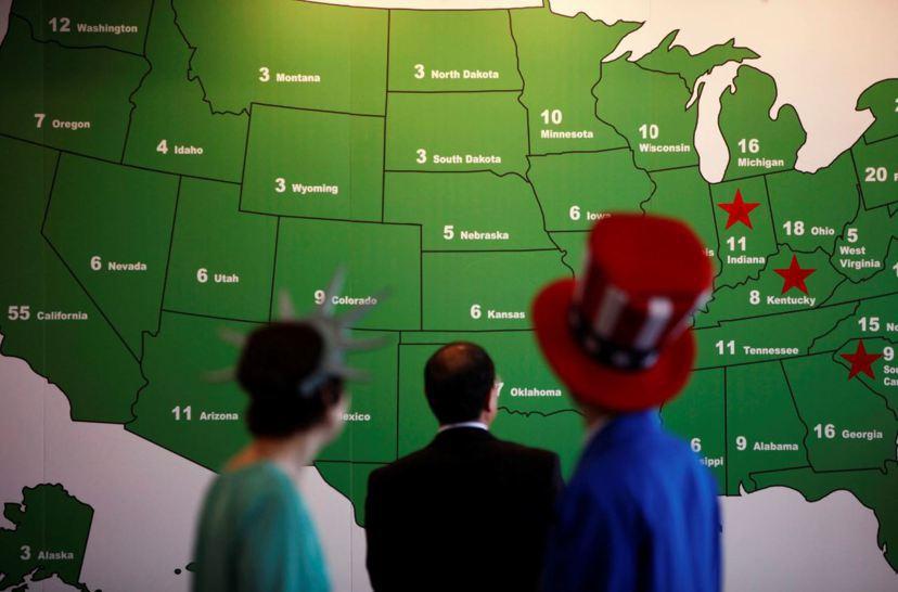 美國的憲政理念,是要保證每個州擁有平等的權利。  圖/路透社