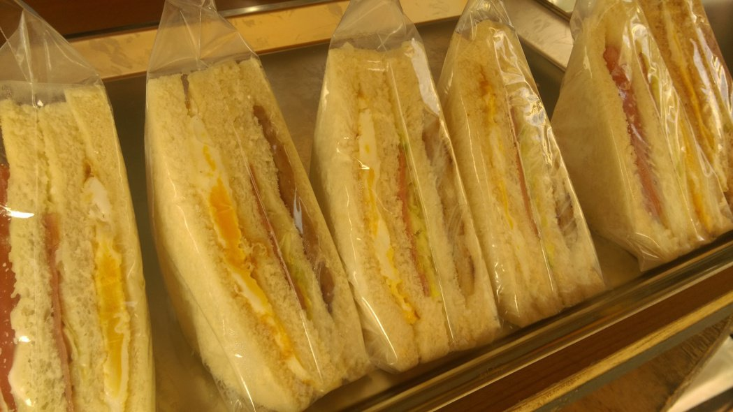 三明治示意圖。記者張家樂/攝影