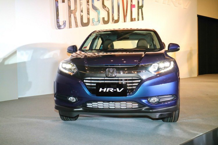 HONDA HR-V以閃蝶藍為主要車色。 記者史榮恩/攝影