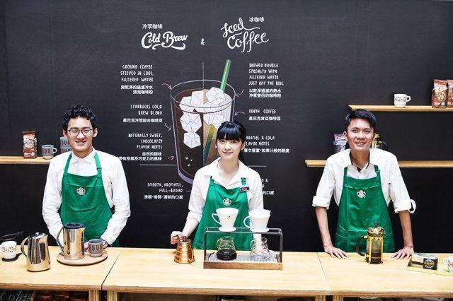 星巴克咖啡旅程概念店以提供三大產區咖啡豆為特點,製作出不同咖啡型態飲品。