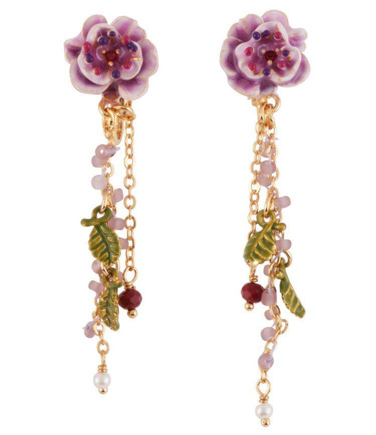 薔薇之戀耳飾,5200元。圖/Les Néréides提供