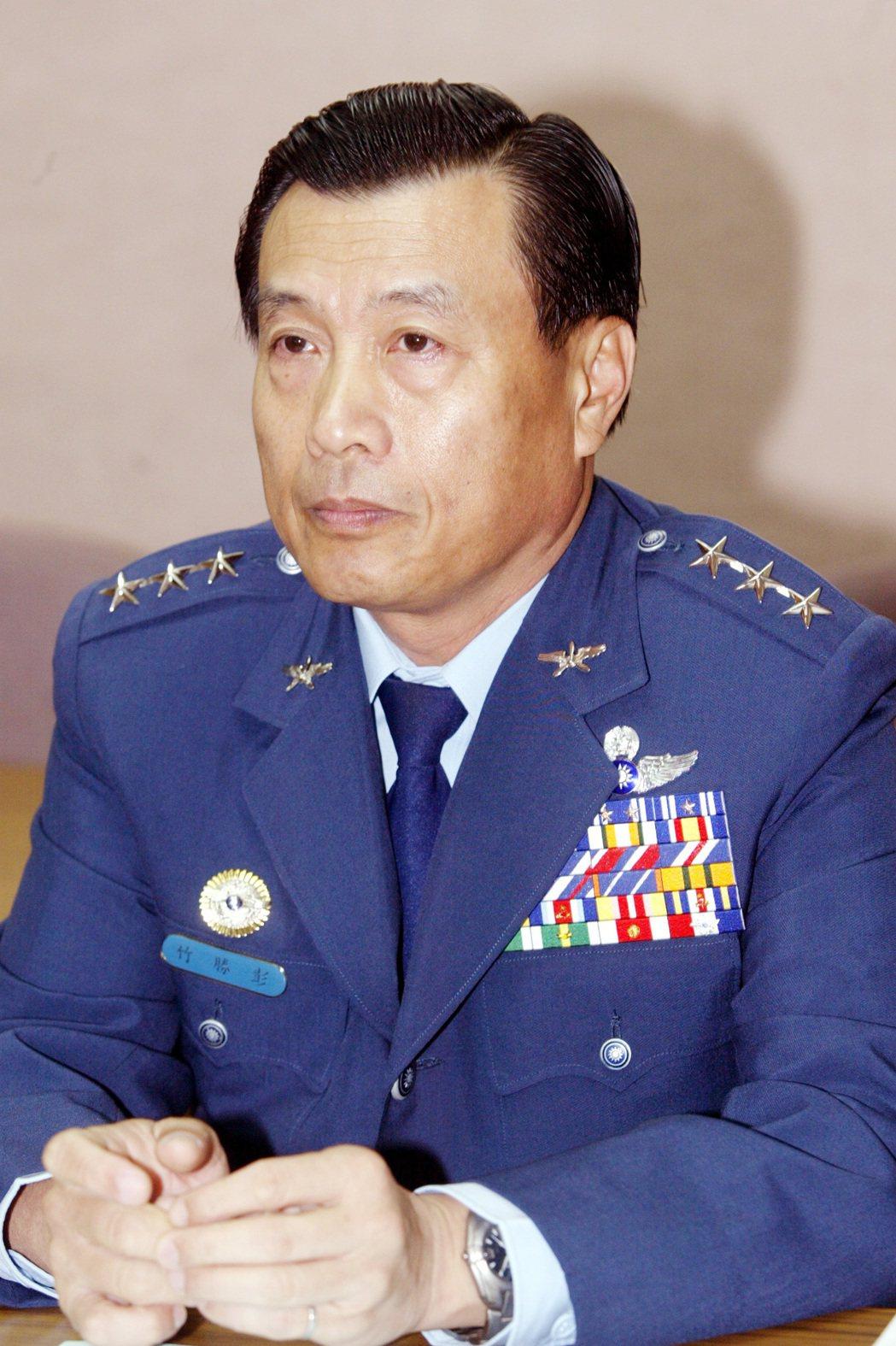 新任國安局長彭勝竹。 圖/聯合報系資料照片
