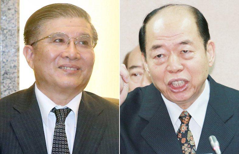 林碧炤(左)、楊國強(右)分別辭去總統府秘書長和國安局長職務。 圖/聯合報系資料...