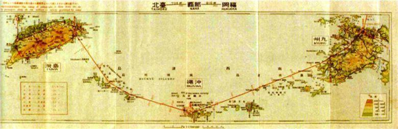 1930年代日本帝國為了提升殖民地軍備與商貿能力,於下塔悠一帶興建台北飛行場(松...