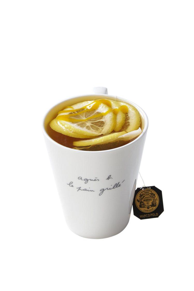 檸檬百香風味馬可波羅茶。圖/b. YOURSELF CAFÉ提供