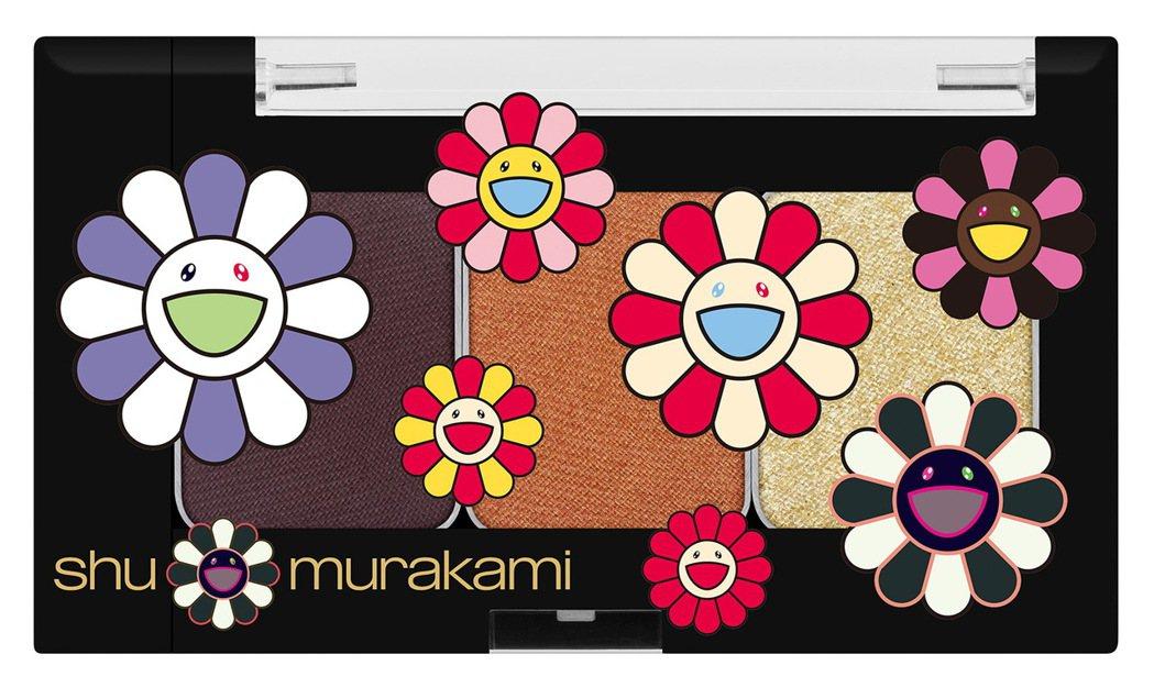 植村秀 X 村上隆3色眼彩盤「可愛宇宙」,售價1,350元。圖/植村秀提供