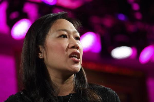 Facebook創始人兼CEO馬克查克伯格的妻子普莉希拉陳出席《財富》雜誌主...