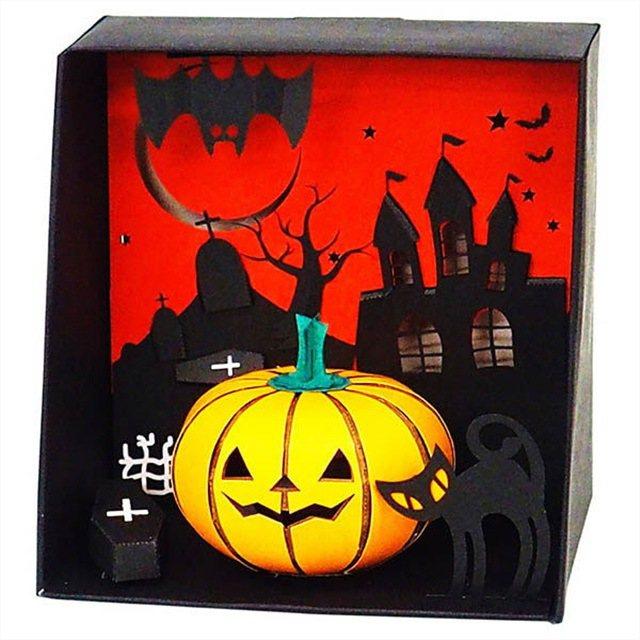 KAWADA河田3D紙拼圖 萬聖節南瓜燈,特價354元。圖/新蛋全球生活網提供