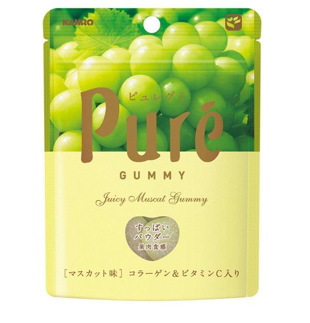 ihergo愛合購10大熱銷糖果排行榜第2名:KanroPure白葡萄軟糖。圖/...