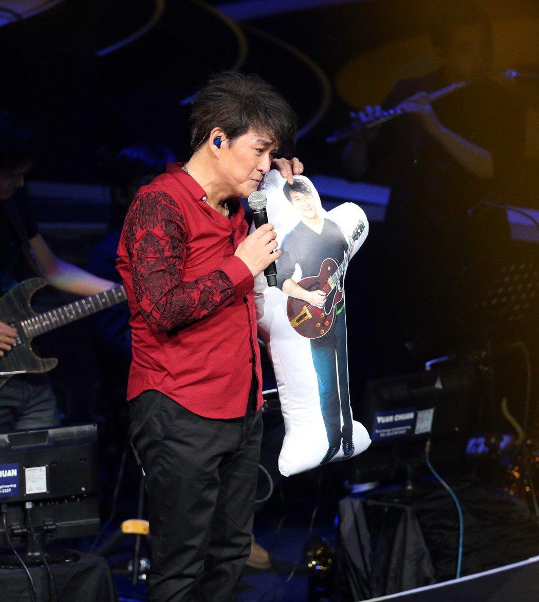 周華健今晚在台北小巨蛋開唱。記者陳瑞源/攝影