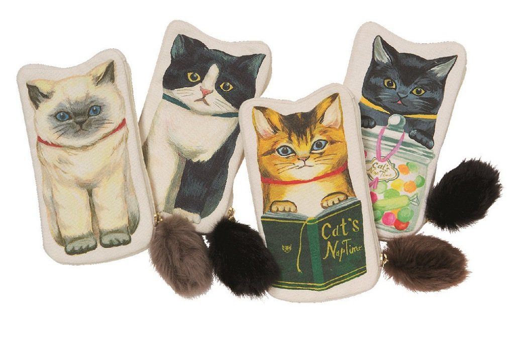 慵懶貓咪化妝包1,980元。圖/Afternoon Tea提供