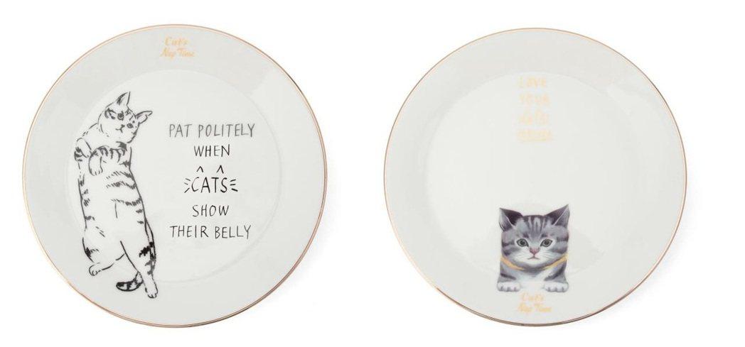 慵懶貓咪餐盤1,690元。圖/Afternoon Tea提供