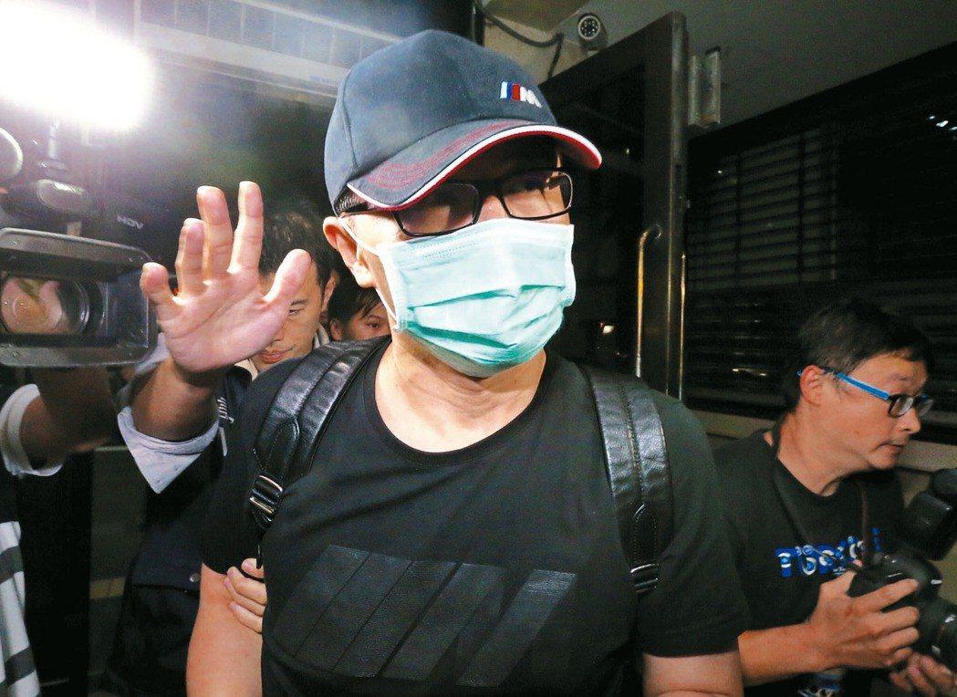 楊瑞仁涉樂陞內線交易案遭約談。 記者許正宏/攝影