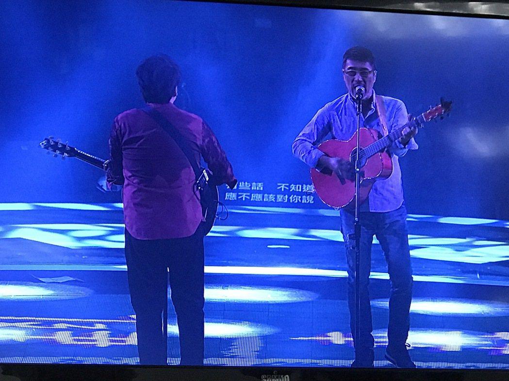 周華健與李宗盛合作。記者陳于嬙/攝