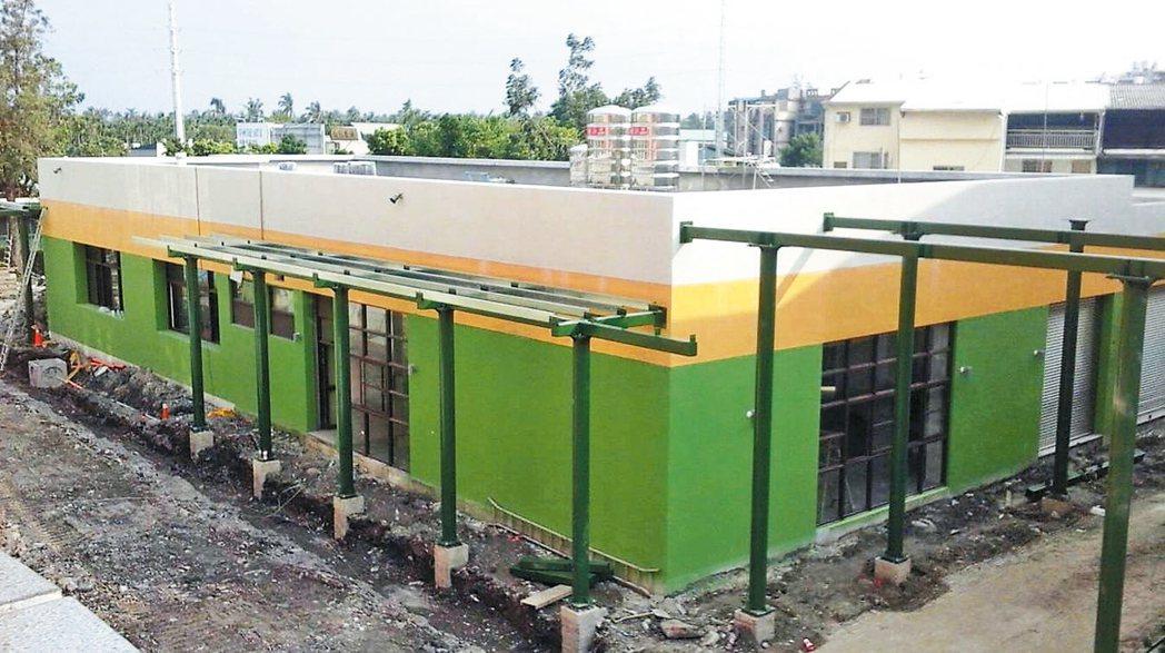 屏東中正國中的中央廚房下月底即將完工。 圖/中正國中提供