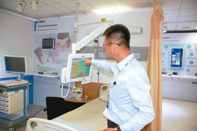 研華科技研發生產的醫院病患資訊管理系統。 圖/記者胡明揚 攝影