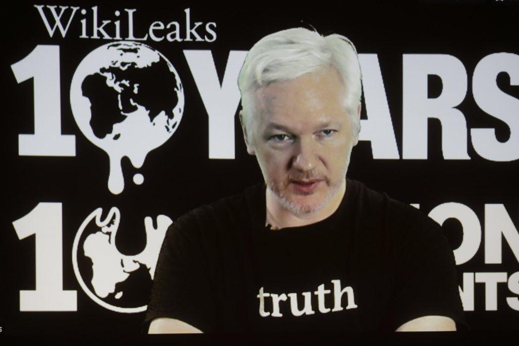 維基解密網站創辦人亞桑傑。 美聯社