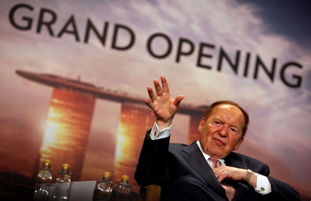 有美國賭王之稱的億萬富豪Sheldon Adelson,經營全球知名的金沙集團。...