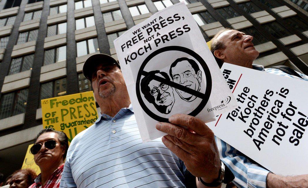 石油工業起家的億萬富豪科氏兄弟(Koch brothers)是美國保守派的大金主...