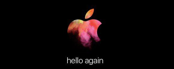 蘋果邀請函寫著「哈囉又來了」(Hello again),保持蘋果發表會一貫的神祕...