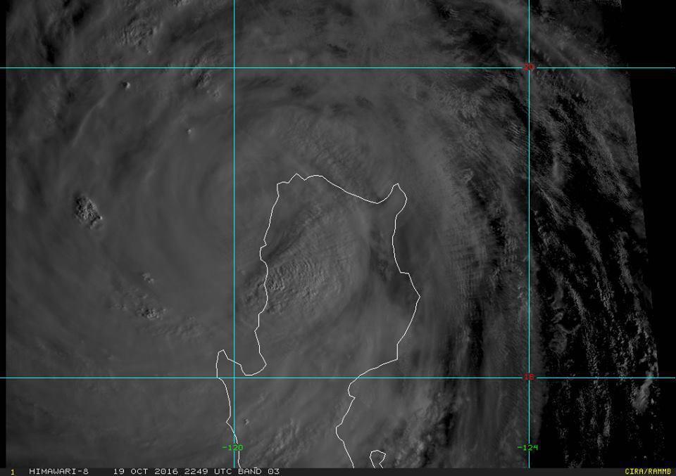 鄭明典表示,海馬颱風環流還很清晰完整。圖/翻攝自RAMMB/Himawari-8...