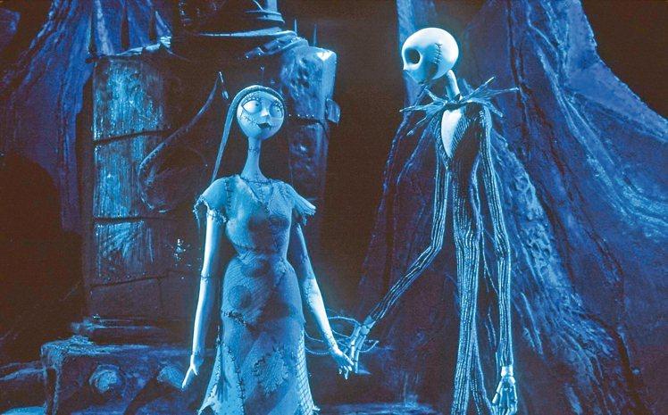 「聖誕夜驚魂」動畫人物造型奇詭,故事亦充滿創意。 圖/摘自imdb