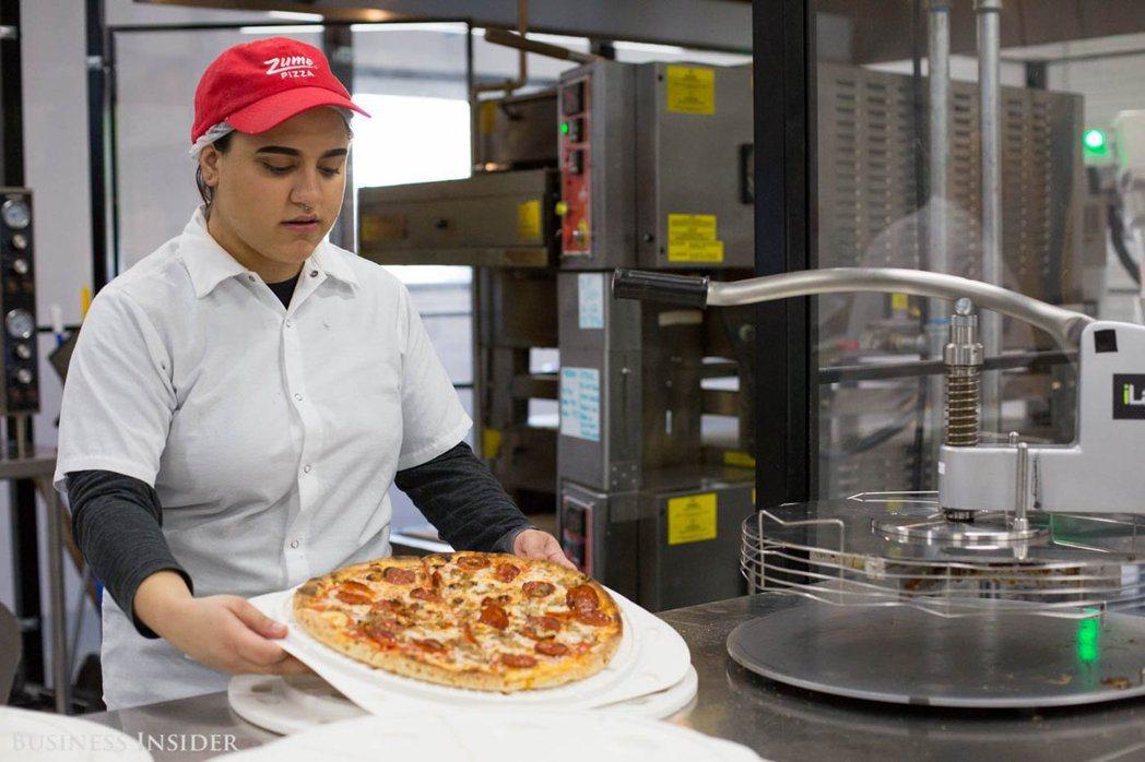 由機器人做出來的比薩餅。(Zume提供)