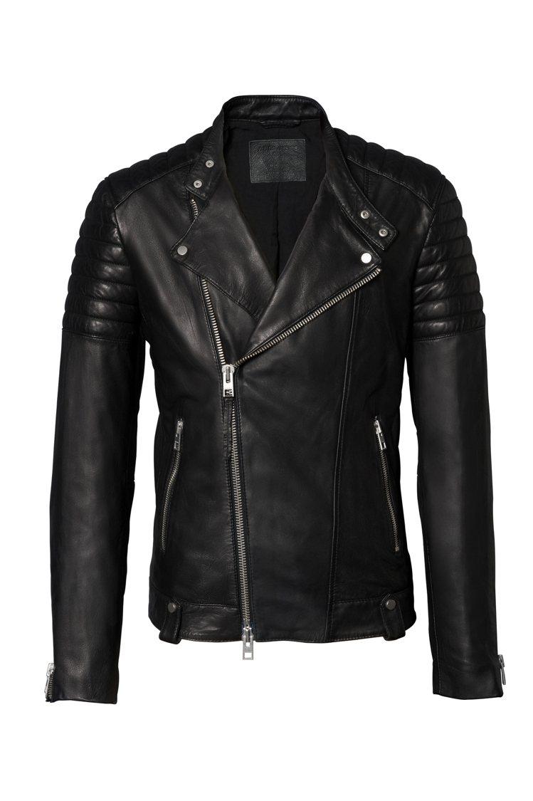 Jasper羊皮男騎士夾克,售價21,500元。圖/AllSaints提供