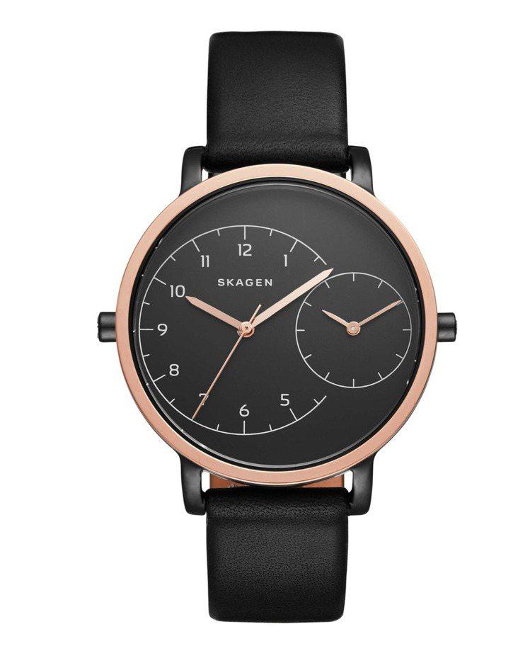 SKAGEN Hagen兩地雙時區腕表,9,550元。圖/Fossil提供