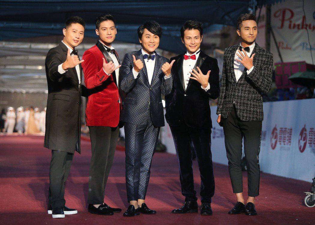 藝人團體5566。 中央社